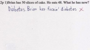 Sure the correct answer might be 2. But it's super hard to argue that this kid is wrong. They did the math.