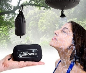 Yes, this is a shower you can carry in the palm of your hand. Butyou have to fill it with water and put it up a tree first.
