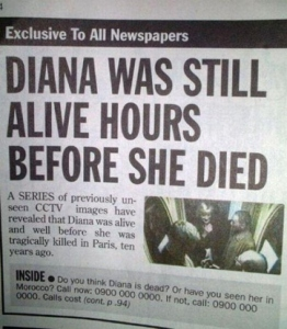 Of course, Diana was still alive hours before she died. That's not news to anybody.