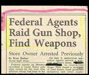 Couldn't they just say the Feds raided a gun shop. You don't have to be more specific.