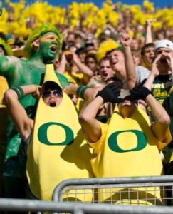 These two even dress in Oregon banana suits for the Ducks. Yes, I know it defies some degree of logic.