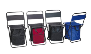 These are folding cooler bag chairs. Great for camping and other activities. If you value your access to drinks over the comfort of your seat.