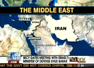 Unfortunately, Fox News totally fails in geography since they forget that Egypt is in Africa and across the sea from Saudi Arabia. The country between Iran and Syria is Iraq.