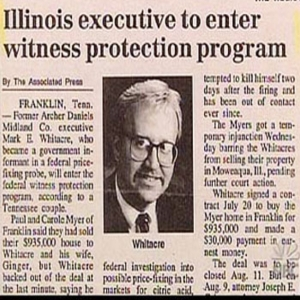 When saying that an executive is entering witness protection, I don't think it's appropriate to display a picture of him. I mean they guy's in witness protection for a reason.