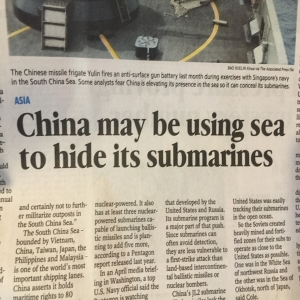 Yeah, that's about as obvious as anything else. Not exactly what I'd call news because that's what submarines do.
