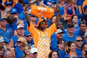 So Florida was the home team in this game against Tennessee? Makes sense.