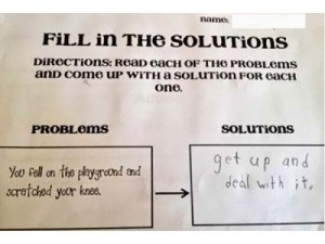 Well, at least that kid has a point. But they probably haven't heard about First Aid.