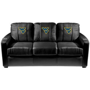 Yes, watch the Mountaineers on this WVU sofa. And when it gets old and starts falling apart, you can give it a proper send off the next time they win.