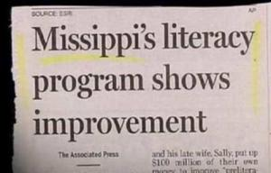 "For some reason, there's a reporter out there who doesn't know how to spell Mississippi. This one is missing an ""s"" or two."