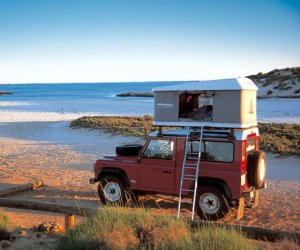 Yes, this is another car roof tent. But it's smaller and is shaped more like a box.