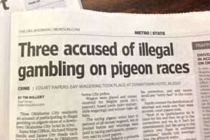 Gambling in pigeon races? First off, how is pigeon racing even a thing? Second, people bet on them?