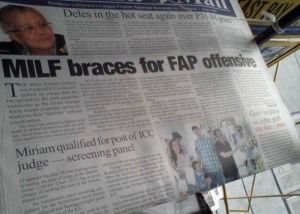 "In this context, MILF stands for Moro Islamic Liberation Front which is an Islamist terrorist group in the Philippines. In America, ""MILF"" is a term that's applied somewhat differently like in porn."