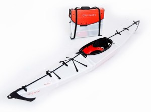 Because you can fold it and carry it with you on land. Not sure about the lack of an oar though.