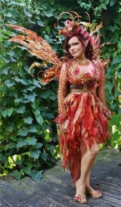 Then again, she may be an autumn fairy since she's in a fall color scheme. Not sure if I like her wings though.
