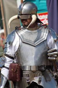Well, the armor seems okay. But I don't think having a helmet like that is a very good idea. Might cause injury.