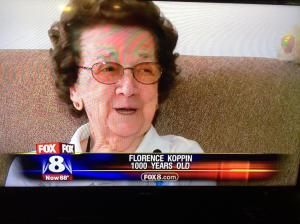 She turned 100 years old. No human can live to 1000 years for God's sake. So where could she be from, the Middle Ages?