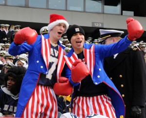 Yes, they're in Uncle Sam suits with boxing gloves. But They seem to have a really good time nonetheless.