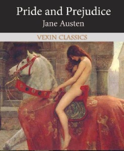 No, there weren't any naked women riding on horseback in this book. This painting has absolutely nothing to do with the story.