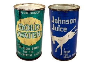 Yes, they actually had these during the 1964 presidential campaign. I don't know why they thought it was a good idea. Or why they decided to put the stuff in cans.