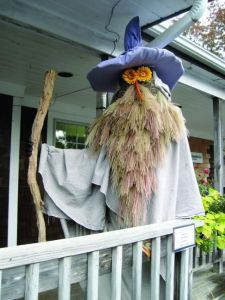 The wizard beard is a stroke of genius. Also like the flower eyes and carrot nose. But you wonder why they don't have scarecrows like that in the Shire.