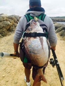 If you catch no fish, you can just use the backpack to pretend that the big one didn't get away. Well, if it didn't have straps.