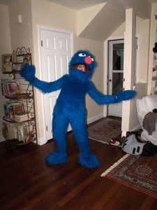 Well, sure looks like a fuzzy Grover, all right. Of course, I've heard he's a proven liability as a server in the restaurant business.