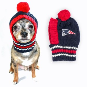 I don't know about you. But I don't think you need to buy this to keep your dog warm outside. Because they already have something that keeps their head warm. It's called fur.