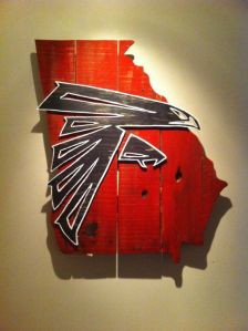 Though my relatives from Georgia might beg to differ. Still, this is a rather artistic design Falcons fans would love to have.