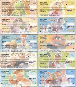 Yes, there are checkbooks from other franchises, too. And it's kind of ridiculous. But the Muppets have a ton of varieties to choose from.
