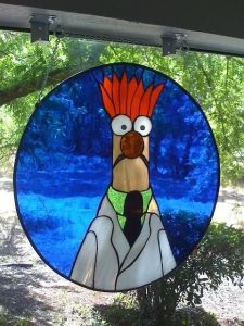 Now Beaker is immortalized in stain glass with that trademark expression on his face. Then again, he has a reason to be befuddled like that.