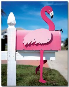 After all, a flamingo mailbox is just as tacky as a lawn ornament. Besides, it'll make you stand out in the neighborhood.