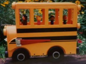 Because it seems to really take the form of a yellow school bus. Like how they have little people figures inside.
