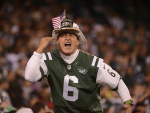 Fireman Ed is one of the better known New York Jets characters. Can always be recognized by his fireman's hat. Crazy.