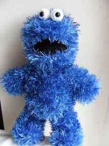 Like how he's made with fuzzy yarn which is quite fitting. Then again, Grover may be fuzzier.
