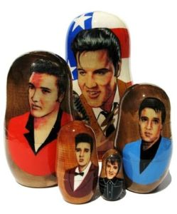I may not be a fan of Elvis. But I know that many readers will appreciate these dolls. Doesn't include his Vegas years.