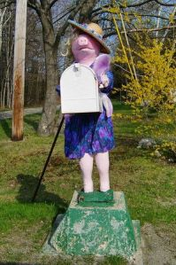 Just consists of a pig mailbox dressed as Miss Piggy. Wonder how they pulled that off.