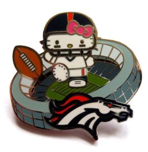 Once again, I don't understand the connection between Hello Kitty and football. Seriously, why does this even exist?