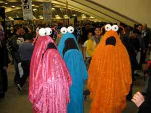 "Oh, those are the aliens from Sesame Street. They're the ones that go, ""Yip, yip, yip, yip, yip."" Seem like they're quite easy to make."