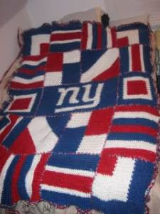 Guess this was made from a variety of different pattern squares in red, white, and blue. Hope it's easy on the eyes.