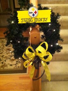 """It even has a gold """"Steelers Country"""" panel and gold ribbon. Also lights up."""