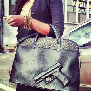 Didn't know the NRA had a hand in purse design. Still, this purse seems to give me the creeps.