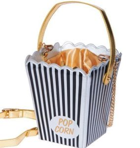 This is a popcorn bucket purse. More durable for cardboard but not suited for food at all.