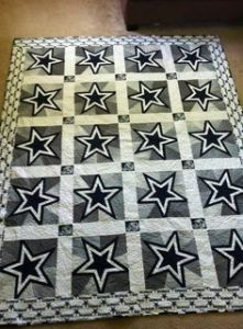 This is a mostly white and silver one with the trademark navy blue Dallas stars. Quite magnificent if you ask me.