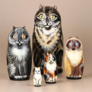 A must have for the crazy cat ladies of lore. A set of 5 cat breeds.