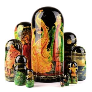 Since nesting dolls are from Russia, it's only fair. The large one has the gorgeous Firebird.