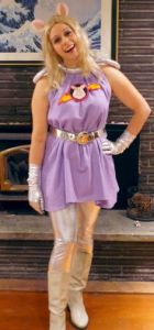 This is Miss Piggy dressed in her Space Pigs sketch outfit. Must've been a regular feature for the show.
