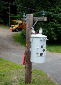"Nice to see how this is specifically labeled ""US Mail."" So you won't mistake it for something you see on the power lines."