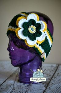 It even has a flower on it with a Green Bay Packers' logo. So cute.
