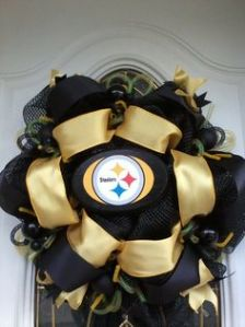 Helps that the Steeler logo is surrounded by gold ribbon. What Steeler fan wouldn't want this?