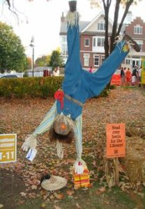 Then again, it might for some of the crows. But this is a really creative, especially with having the scarecrow being upside down.